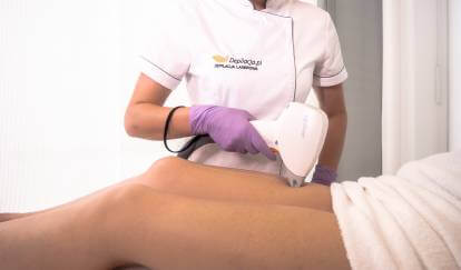 upper thigh laser hair removal treatment