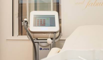 hair removal laser and treatment bed, London salon