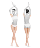 photo of woman front and back legs and armpits one treatments