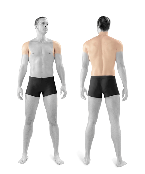 photo of man front and back shoulders back one treatment