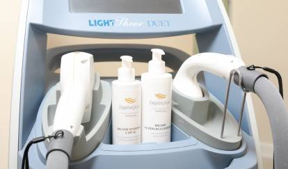 laser and cosmetics for depilation